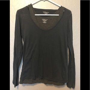 Nordstrom Majestic Filatures Paris Cashmere Shirt